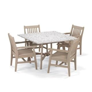 Oxford Garden Wexford 5-Piece Dining Set with 48-inch Lite-Core Ash Table - Grigio Shorea