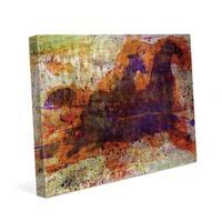 'Tashunka' Abstract Canvas Wall Art Print