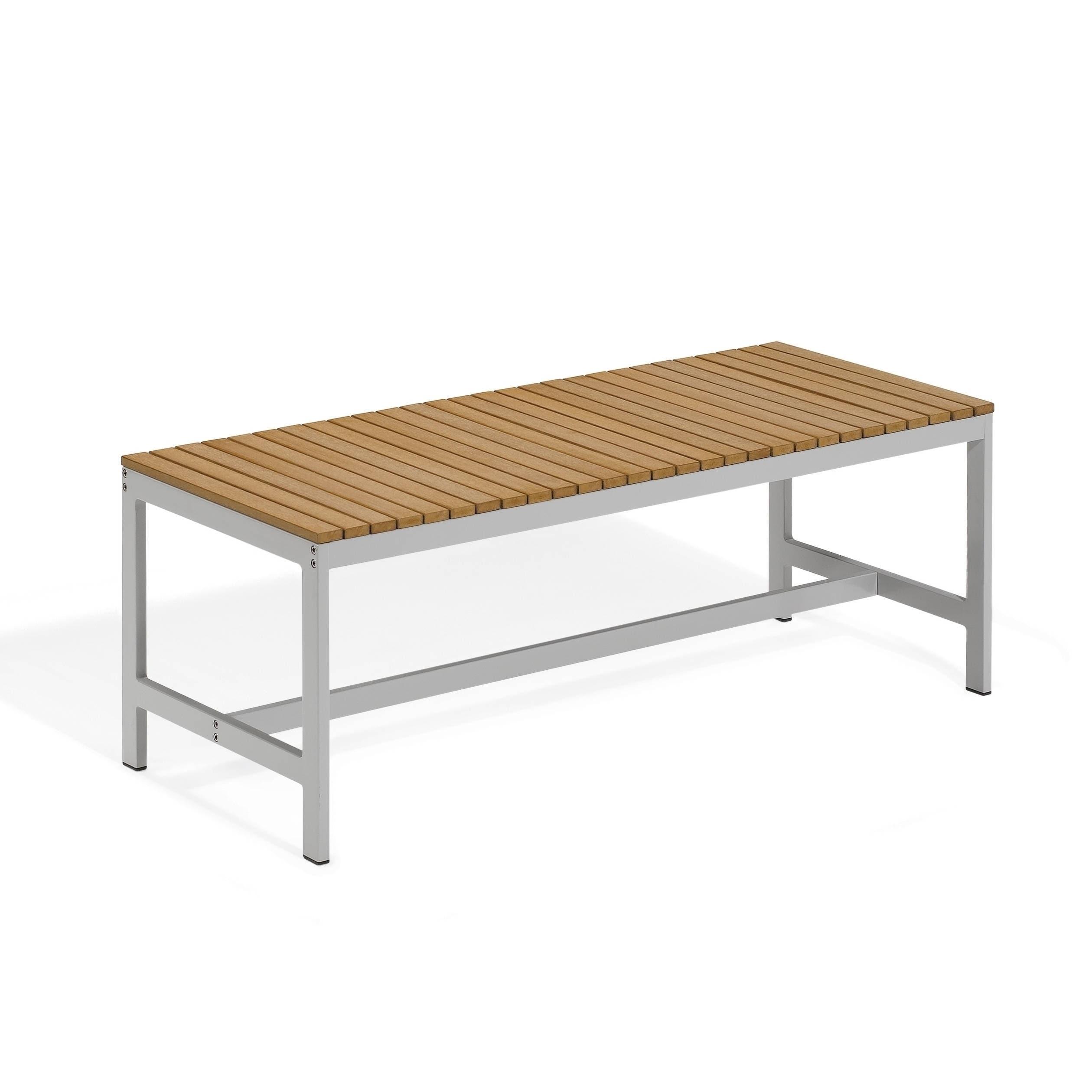 Oxford Garden Travira 48-inch Teak Backless Bench (Vintag...