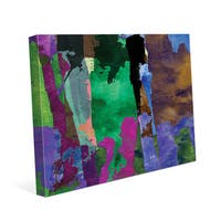 Purple Forest Abstract Wall Art Print on Canvas