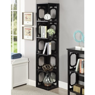 Convenience Concepts Contemporary Omega 5-tier Corner Bookcase