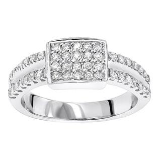 Luxurman 10k Gold 4/5ct TDW Diamond Ring