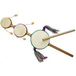 Handcrafted Junior Triple Spin Drum - Jamtown (Peru)