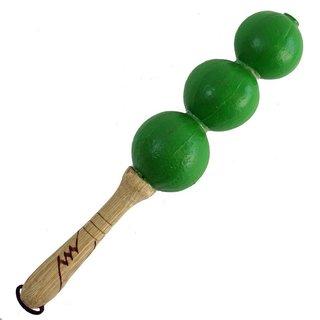 Handmade Green Ayesha Shaker Musical Instrument (Ghana)