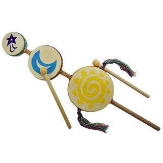 Handcrafted Junior Sun Moon Star Drum - Jamtown (Peru)