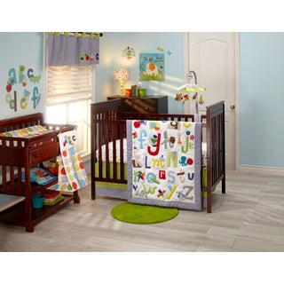 NoJo by Jill McDonald 'ABC with Me' 4-piece Crib Bedding Set