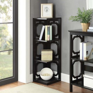 Convenience Concepts Contemporary Omega 3-tier Corner Bookcase