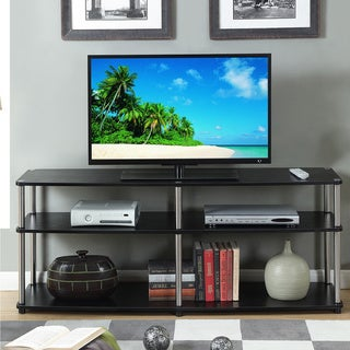 Convenience Concepts Designs 2Go Black Stainless Steel 3-tier 60-inch TV Stand