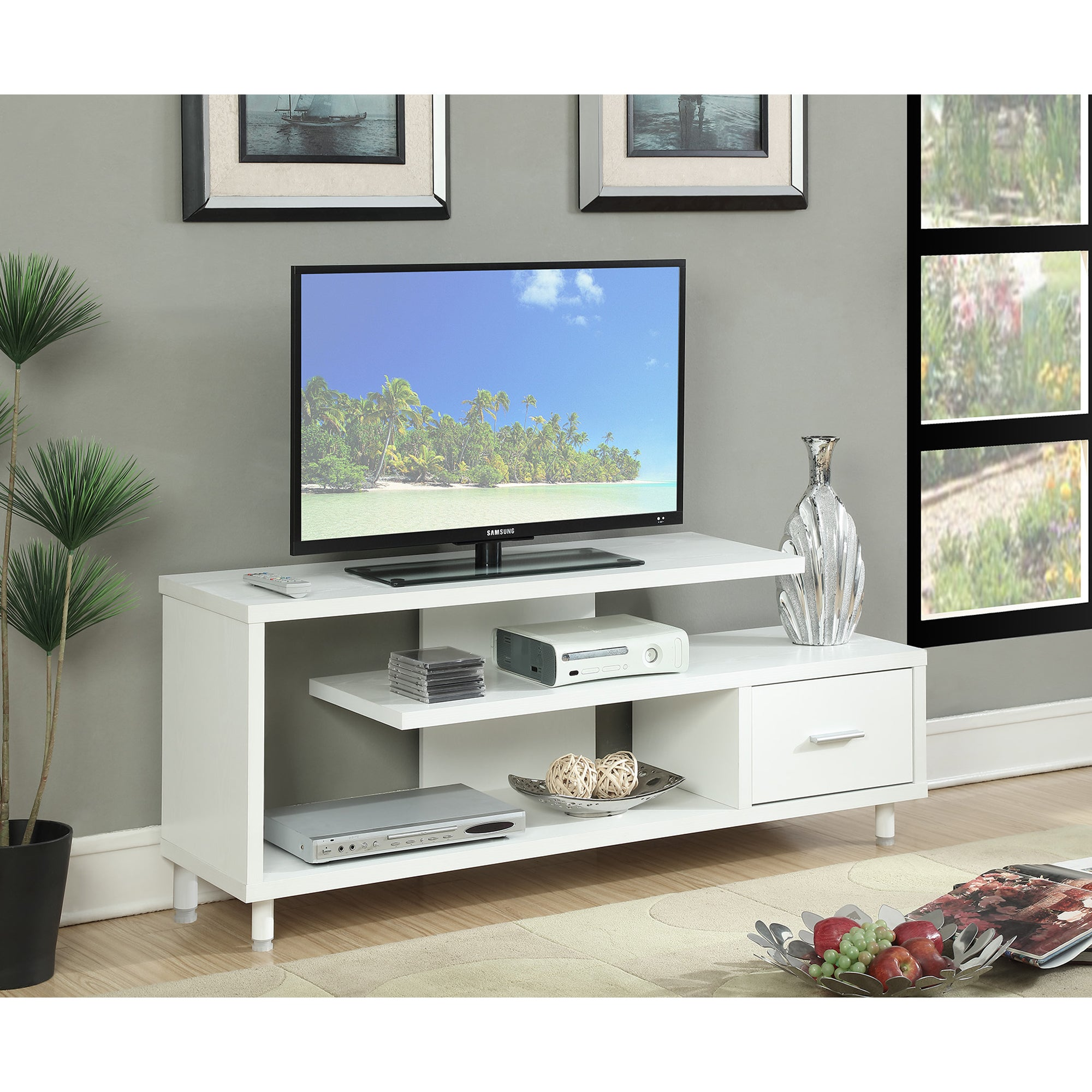 Convenience Concepts Designs2Go Seal 60 Inch TV Stand