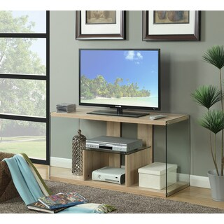 Porch & Den Bywater Urquhart Wood/ Glass TV Stand