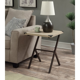 Convenience Concepts Zurich Wood Metal End Table