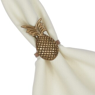 Pineapple Napkin Ring- Set of 4