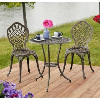 simple living 3piece estero bistro set