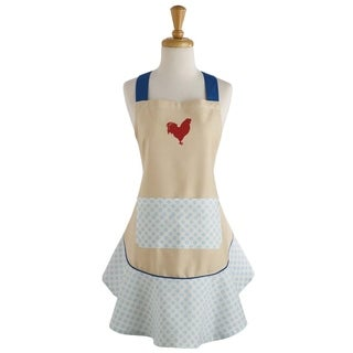 red rooster print ruffle apron. Interior Design Ideas. Home Design Ideas