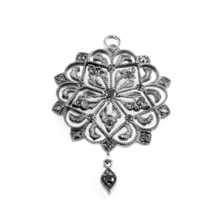 Poiray 18K White Gold Black Diamond Pendant