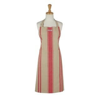 Red French Stripe Chef's Apron