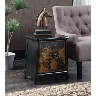 Convenience Concepts Touch of Asia Brown Cabinet Accent Table