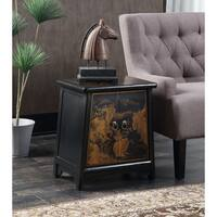 Porch & Den Bywater Villere  Brown Cabinet Accent Table