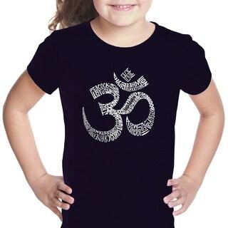 Los Angeles Pop Art Girls' Poses OM Multicolor T-shirt Medium Size in Black(As Is Item)