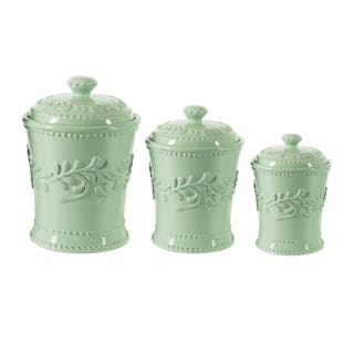 American Atelier Blue Bianca Lefa 3-piece Canister Set https://ak1.ostkcdn.com/images/products/14103263/P20711339.jpg?impolicy=medium