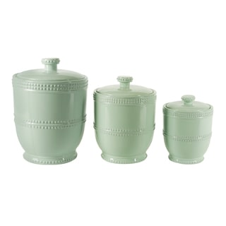 Blue Bead Bianca 3 PC Canister Set