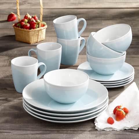 American Atelier Oasis Mint Stoneware 16-Piece Dinnerware Set