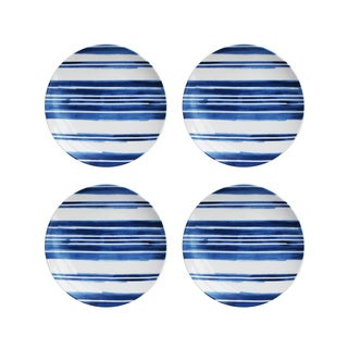Blue Swoosh Stripe S/4 Salad Plates