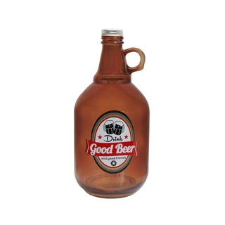 "Growler Beer""Good Beer"" With Cap"
