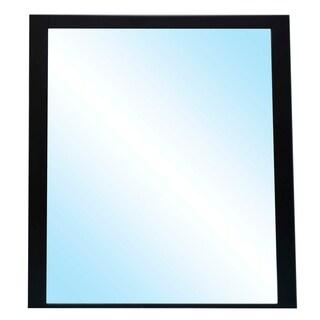 Savannah Matte Black Oak Framed Wall Mirror