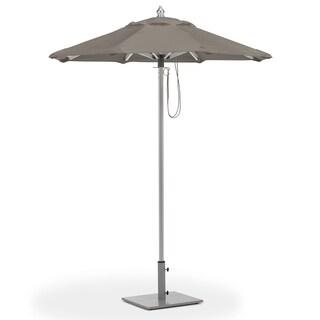 Oxford Garden 6-feet Octagon Taupe Sunbrella Fabric Shade Market Umbrella with Brushed Aluminum Frame