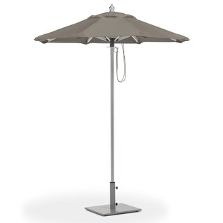 Oxford Garden 6-feet Octagon Taupe Sunbrella Fabric Shade Market Umbrella with Brushed Aluminum Frame