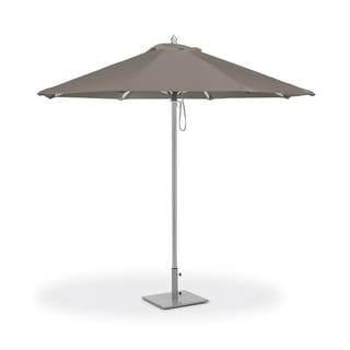 Oxford Garden 9-feet Octagon Taupe Sunbrella Fabric Shade Market Umbrella with Brushed Aluminum Frame