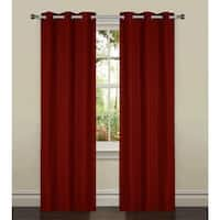 Bella Luna York Textured Room Darkening 84-inch Grommet Curtain Panel Pair - 76 x 84