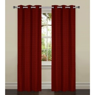 Bella Luna York Textured Room Darkening 84-inch Grommet Curtain Panel Pair - 76 x 84 (3 options available)