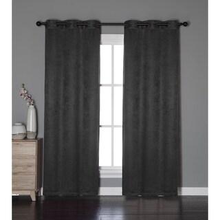 Bella Luna Calypso Textured Room Darkening 84-inch Grommet Curtain Panel Pair - 76 x 84