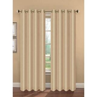 Bella Luna Camilla Faux Silk Room Darkening Lined 84-inch Grommet Curtain Panel Pair - 76 x 84