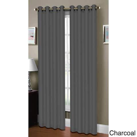 Window Elements Raphael Faux Linen Extra Wide 84-inch Grommet Curtain Panel - 54 x 84