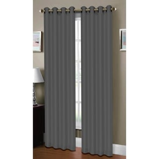 Window Elements Madison Ave Collection Raphael Heathered Faux Linen Extra Wide 96-inch Grommet Curtain Panel Pair