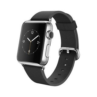 Apple Watch 38mm Stainless Steel Case with Black Classic Buckle (Medium)