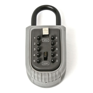 MaxWorks 70466 Easy-to-use Push-button Key Safe Storage Shackle Lock Box