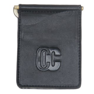 Concealed Carries Men's Waxed Black Leather Wallet