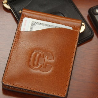 Concealed Carrie Men's Aged Brown Leather Money Clip