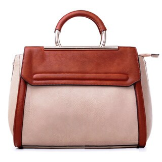 MKF Collection Two-tone Satchel with Removable Strap by Mia K. Farrow
