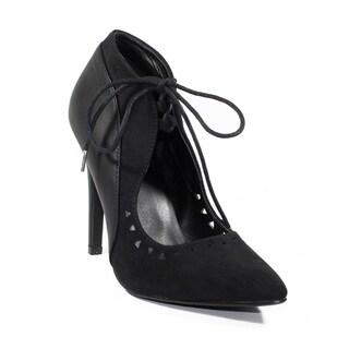 FFC New York Women's Suzie Black Microfiber Heel