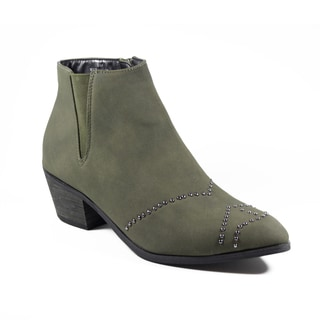 FFC New York Women's Christine Grey Microsuede Bootie