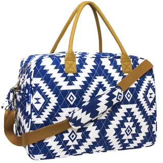 MKF Collection Quilted Cotton Duffel Bag