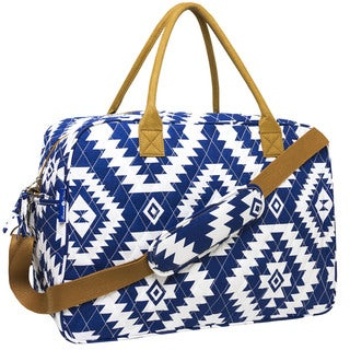 MKF Collection Quilted Cotton Duffel Bag by Mia K. Farrow