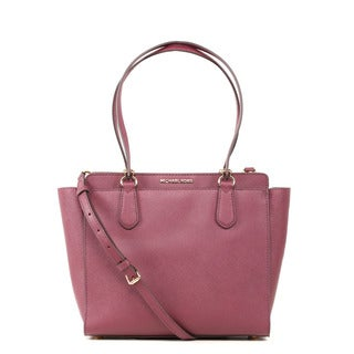 Michael Kors Dee Dee Medium Plum Convertible Tote Bag