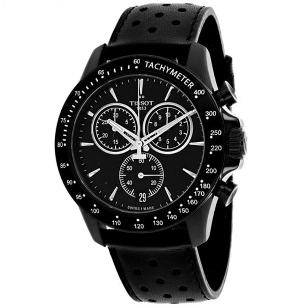 Shop Tissot V8 Leather Chronograph Mens Watch T1064173605100 Free