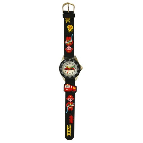 Olivia Pratt Kids' Plastic Bezel Silicone Fireman Watch